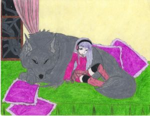 Hiyori and Fenrir