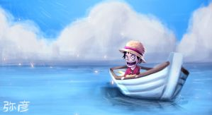 Luffy on Tour by Yahik0