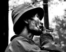 enjoy smoking by adjieguswara-art
