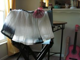 Hand dip-dyed Original skirt with victorian flower by artistiquejewelry