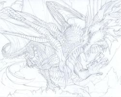 Vvlkn WIP - Pencils by beastofoblivion
