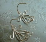 Peacock Feather Hoop Earrings by SparklyShoes