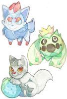 pokemon watercolors by 13on13on