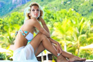 Woman at the pool by MotHaiBaPhoto