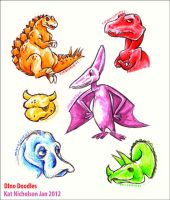 Dino Doodles by Kat-Nicholson
