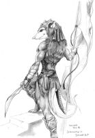 Opossum sentinel by Dracowhip
