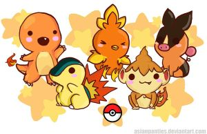 Pokemon Fire Mini Print by AsianPanties