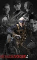 Metal Gear Solid 4 Poster V2 by Squint911