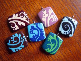 Polymer Pendants 2 by jefita
