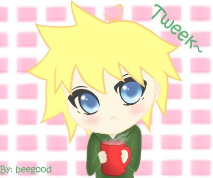 tweek enjoying his coffee by beegood