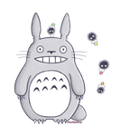 Totoro with Soot Sprites by Valyrei