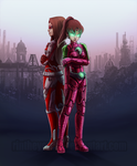 Commission - Singer and Silence - City of Heros by RinTheYordle