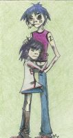 noodle and 2D by PMSingEvilElf
