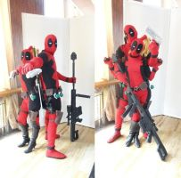 my lady (deadpool) and me by xcomve