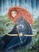 Princess Merida from Disney Pixar's Brave by Count-Your-Rainbows