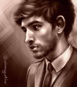 Colin Morgan by whimsycatcher