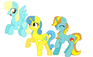 SassaFlash, Lemon Hearts, and Firecrkacker Burst by Sketchstar-mids-sis
