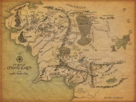 Map of Middle-Earth by Jonothing