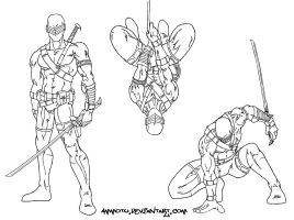 snake-eyes doodles by Ammotu
