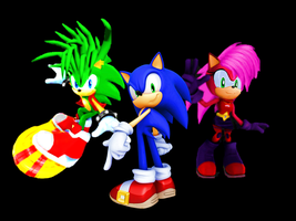 Sonic Underground Wallaper Sonic, Manic, and Sonia by 9029561