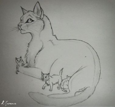 Cat drawing by bluelagoon037