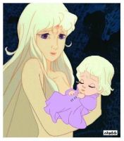 Lady Amalthea and daughter by Zlatt