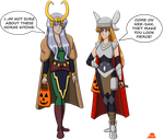 Isane and Kiyone Halloween 2015 by PerryWhite
