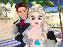 Hans and Elsa - At the beach by Simmeh