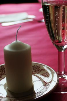 candle and champagne by betteporter
