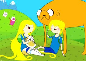 Adventure Time with Finn and Fionna by imhimmel