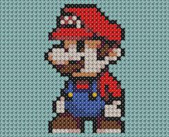 Little Mario Cross Stitched by drsparc