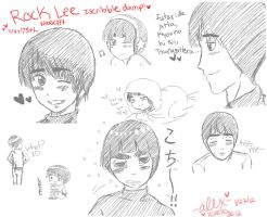 Rock Lee Iscribble Dump by shock777