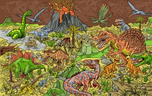 Dinosaurs by mourri