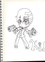 Kid chibi (uncolored) by taytay128