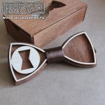 Wood bow tie Black Widow by v-vasilinka