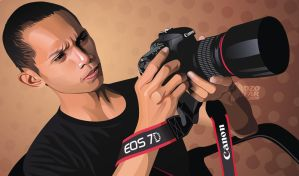 Vector Real Man with Canon EOS 7D Camera by ndop