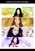 125. SoHee Pack Signatures + PSD by Sannie10