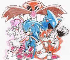 Sonic and co by Aki-at