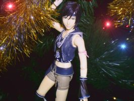 Christmas Lights Yuffie by DragonRiderofRohan
