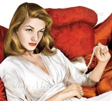 Lauren Bacall by Alene