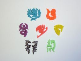 Fairy Tail Guild Symbols by dustofstarz