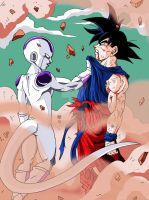 Goku And Freezer by Sersiso