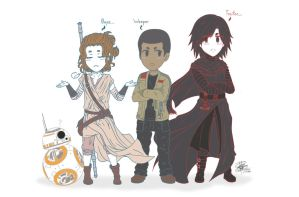 Rivals. (Star Wars Episode VII Characters) :3 by LessSanArt