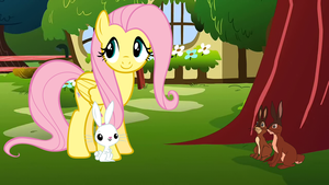 Fluttershy meets Watership Down. by Flutterflyraptor