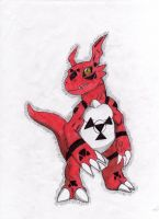 Guilmon by DeidaraAndRiku
