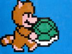 Tanooki Mario with Shell by TomByte