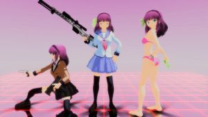 MMD Yurippe Nakamura - Angel Beats! by Spartan-743