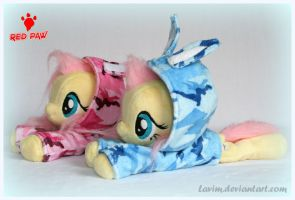 My Little Pony - Fluttershy - Camo Hoodies Beanie by Lavim