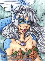 .:Mermaid.ACEO:. by Hatter2theHare