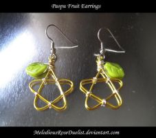 Paopu Fruit Earrings by MelodiousRoseDuelist